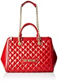 Love Moschino Damen Quilted Nappa Pu Schultertasche, Rot (Rosso), 15x10x15 Centimeters