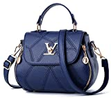 uaECB Womens Bag Leathe Handtaschen Shell Thread Damen Clutch Designer Bag Haupt Femme Women'stote Geldb?RSE Deep Blue 23cmX13cmX18cm