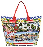 Dolce & Gabbana Damen Shopper Shopping Canvas Cannes blau BB6191-B9F57