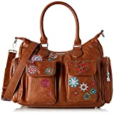 Desigual Damen Bag Rep Nanit London Umhängetasche, Braun (Marron), 15.5x25.5x32 cm