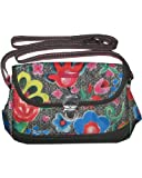 Oilily Funky Flowers S Shoulderbag Charcoal
