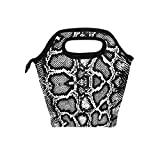 linomo Lunch Tasche Serpentine Snake Print Lunch Bag, Kühler Lunchbox Lunch Tote Bag Handtasche Isoliertasche für Frauen Kinder Mädchen Männer Teen Jungen Büro Arbeit Schule