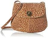 PIECES Damen PCTOTALLY ROYAL Leather Party Bag NOOS Umhängetasche, Toasted CoconutAOP:Shiny Leo, Keine Angabe