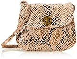 PIECES Damen PCTOTALLY ROYAL Leather Party Bag NOOS Umhängetasche, Toasted Coconut/AOP:Godzilla Snake, ONE Size
