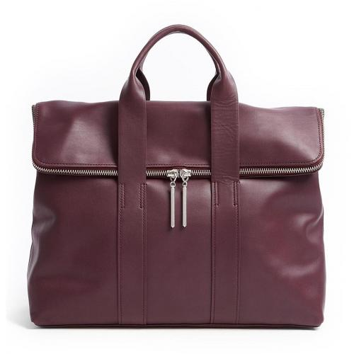3.1 Phillip Lim Aubergine 31 Hour Leather Bag