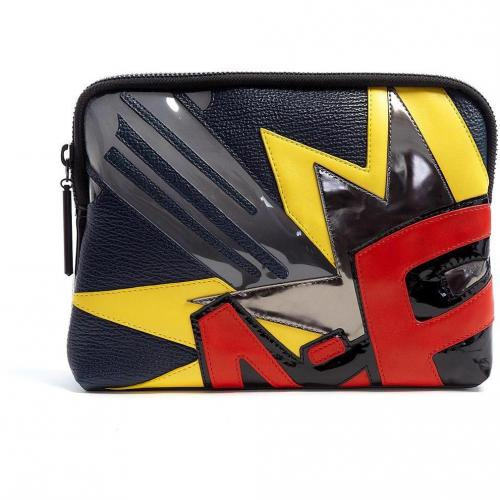 3.1 Phillip Lim Bang Patchwork Leather 31 Minute Clutch Bag