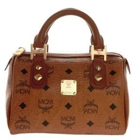 MCM kleine Handtasche cognac