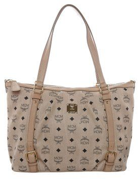 MCM VINTAGE VISETOS Shopping bag beige