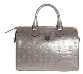 MCM Handtasche Boston Medium silber