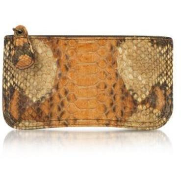Abaco Nina - Mini-Clutch aus Pythonleder