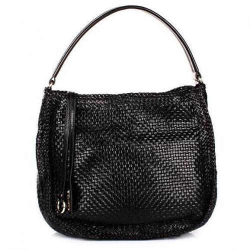 Abro Handtasche Leder Athene Woven black