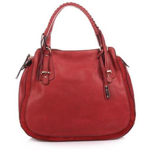 Abro Handtasche Leder Cashmere Red