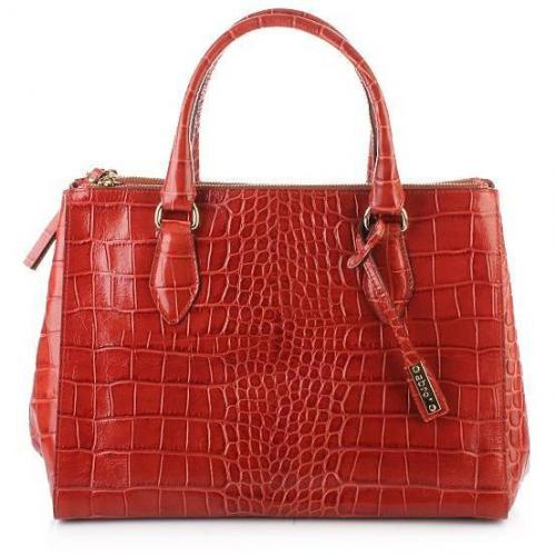 Abro Handtasche Leder Croco Dream Lux Rust