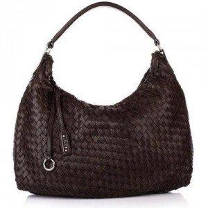 abro handtasche leder nappa alce dark brown designer. Black Bedroom Furniture Sets. Home Design Ideas