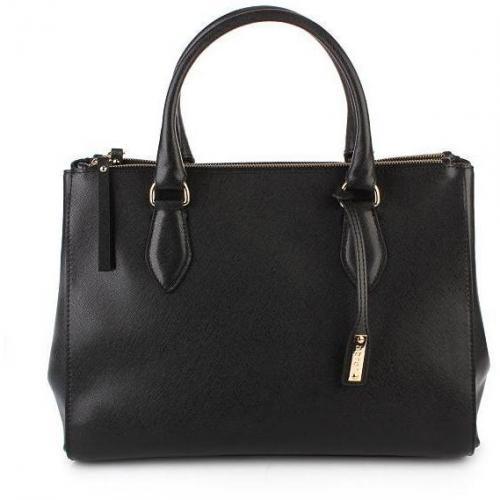 Abro Handtasche Leder Saffiano Black
