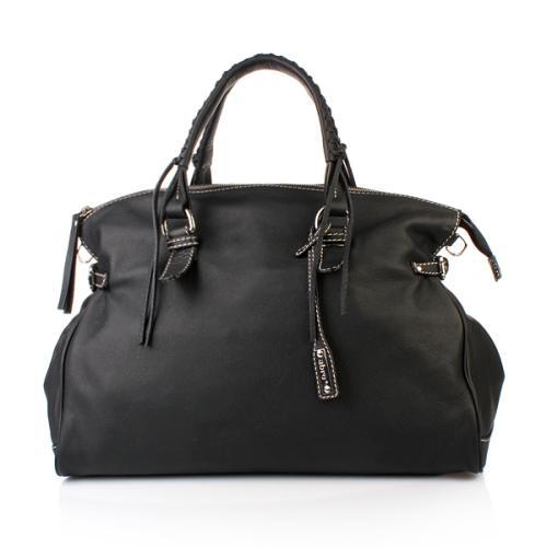 Abro Handtasche Leder Nappa Genziana Black Large