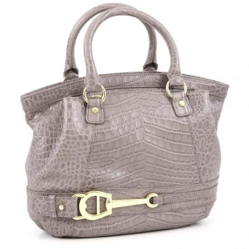 Aigner All In Henkeltasche Leder grau