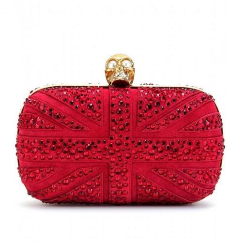 Alexander McQueen Kristallbesetzte Union Jack Box-Clutch