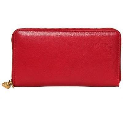 Alexander McQueen - Leder Continental Zip Brieftasche
