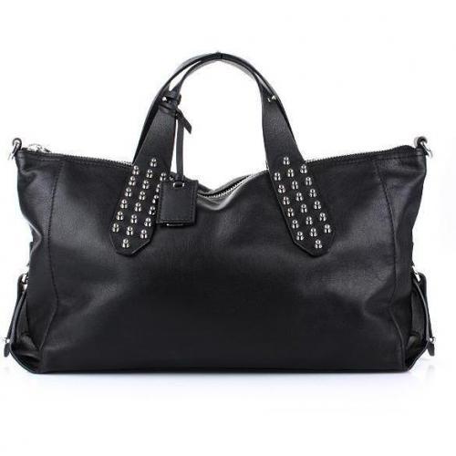 Alexander McQueen Shoulder Bag Studs Black