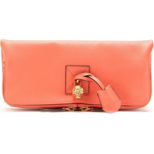 Alexander McQueen Falt-Clutch Aus Leder Gelb/Orange/Rot