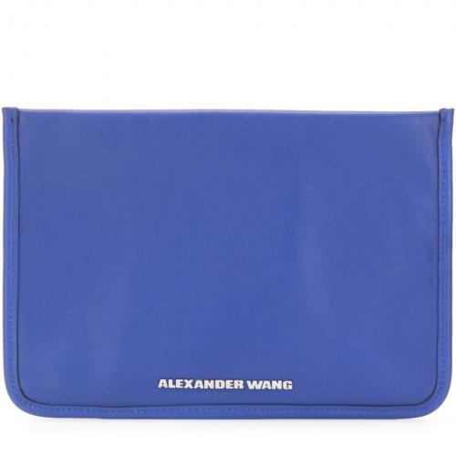Alexander Wang Prisma Leder Clutch Blau/Grün