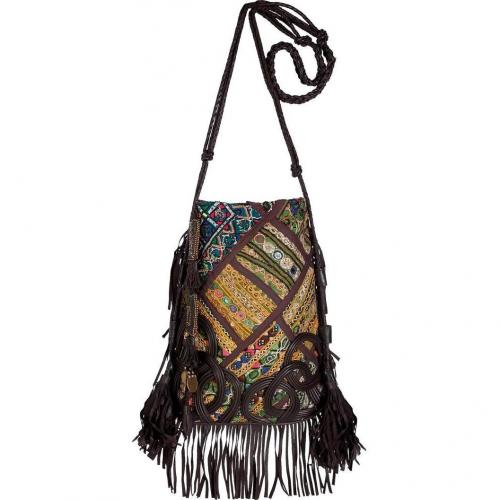 Antik Batik Multicolor Embroidered Patchwork Shoulder Bag