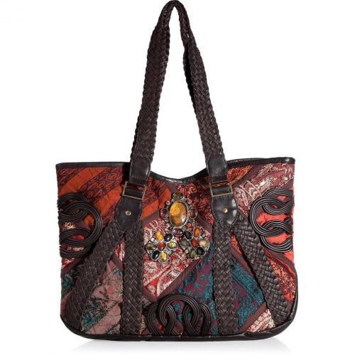 Antik Batik Multicolor Embroidered Patchwork Tote