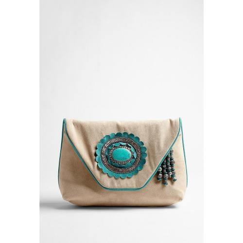 Antik Batik Nook Turquoise Stone Clutch