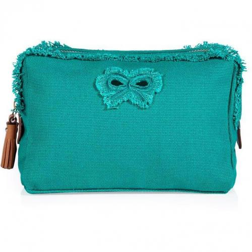 Anya Hindmarch Aqua Raw Canvas Cosmetic Bag