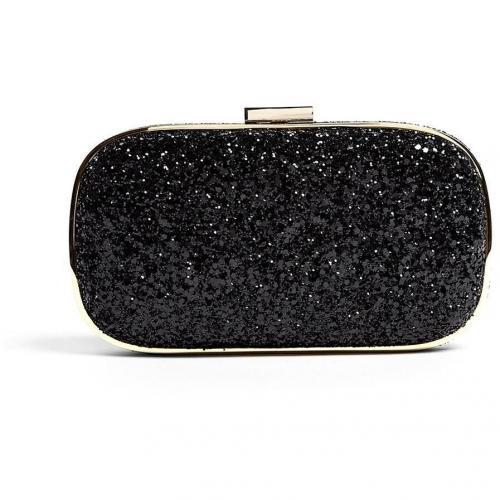 Anya Hindmarch Black Glitter Marano Clutch