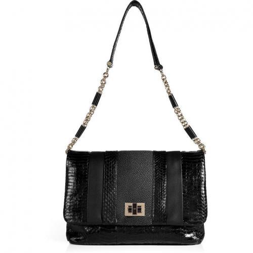 Anya Hindmarch Black Stripy Gracie Bag