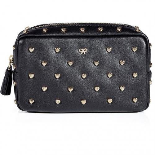 Anya Hindmarch Coal Studded Heart Make Up Case