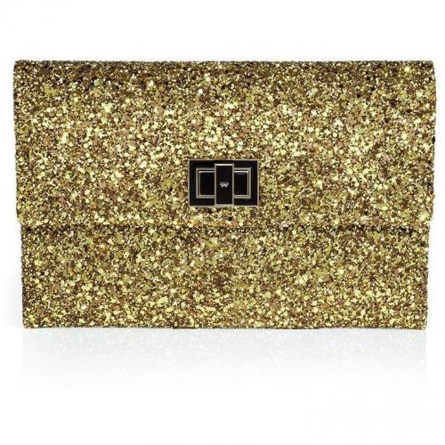 Anya Hindmarch Copper/Gold Halo Glitter Valorie Clutch