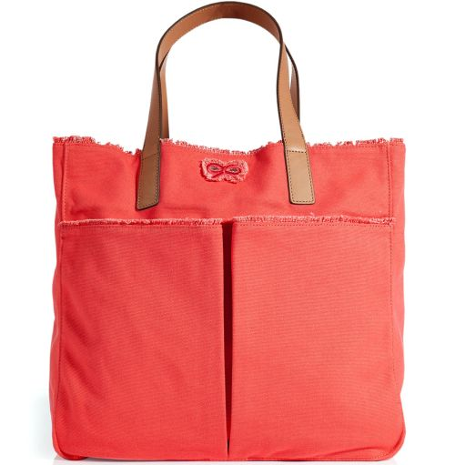 Anya Hindmarch Coral Raw Canvas Nevis Tote Bag