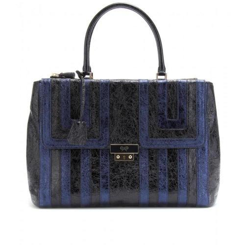 Anya Hindmarch Ebenezer Metallic-Handtasche