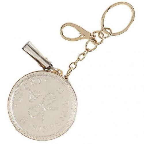 Anya Hindmarch Halo Mirror Lucky Sixpence Coin Purse Keyfob
