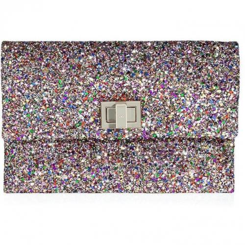Anya Hindmarch Multicolor Gold Glitter New Valorie Clutch