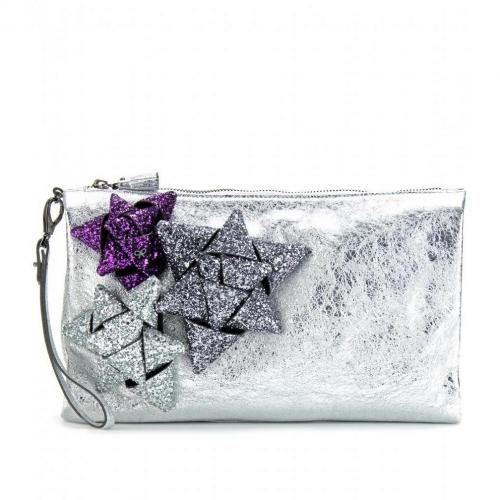 Anya Hindmarch Scrooge Day Metallic-Clutch