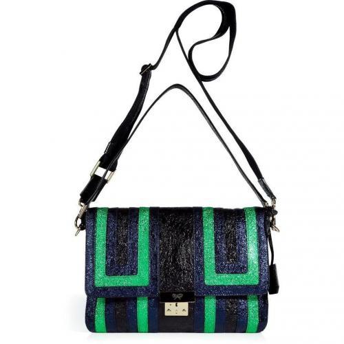 Anya Hindmarch Sparkling Onyx/Saphire/Emerald Crinkle Ebenezer Bag