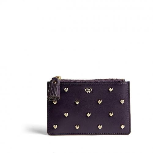 Anya Hindmarch Studded Heart Leather Floyd Pouch