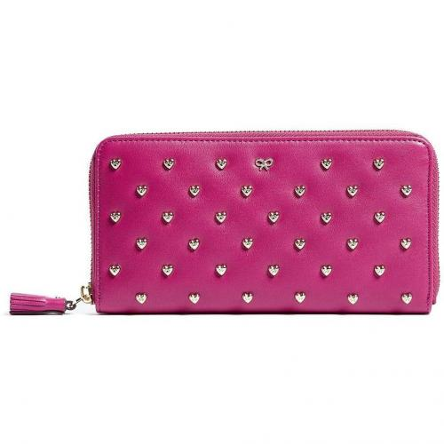 Anya Hindmarch Studded Heart Leather Joss Purse