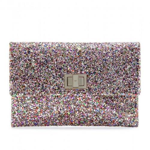 Anya Hindmarch Valorie Glitter-Clutch Multi