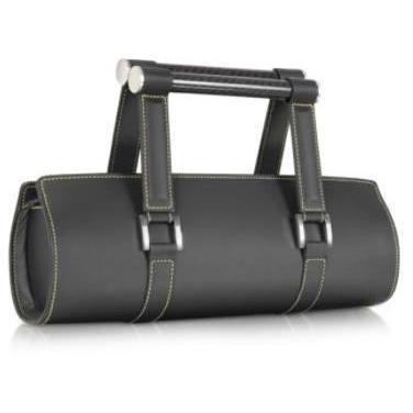 Aznom Carbon Lady - Baguette-Tasche aus schwarzem Leder