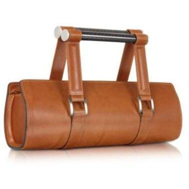 Aznom Carbon Lady Vintage - Baguette-Tasche aus Leder in braun