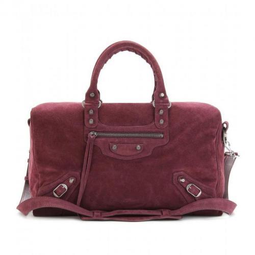 Balenciaga Classic Polly Veloursleder-Tasche