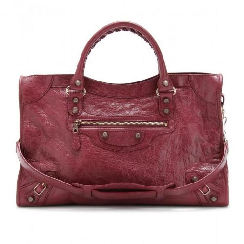 Balenciaga Giant 12 City Ledertasche Cassis/Bordeaux