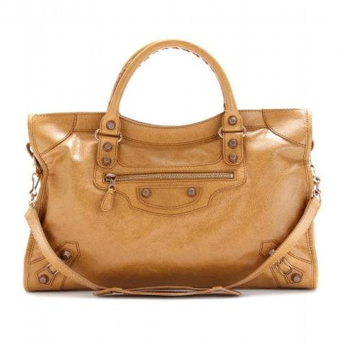 Balenciaga Giant 12 City Ledertasche Cumin/Gold