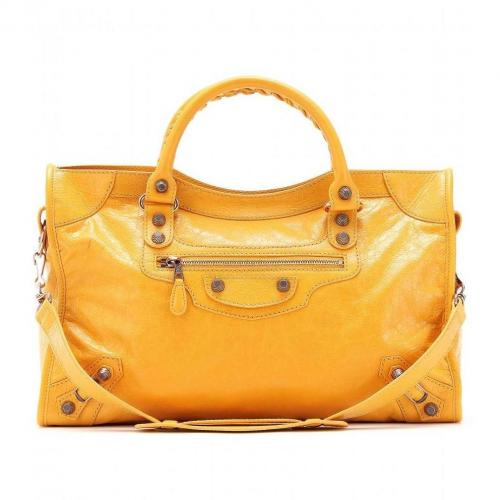 Balenciaga Giant 12 City Ledertasche Mangue/Ocre