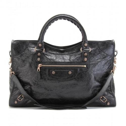 Balenciaga Giant 12 City Ledertasche Noir